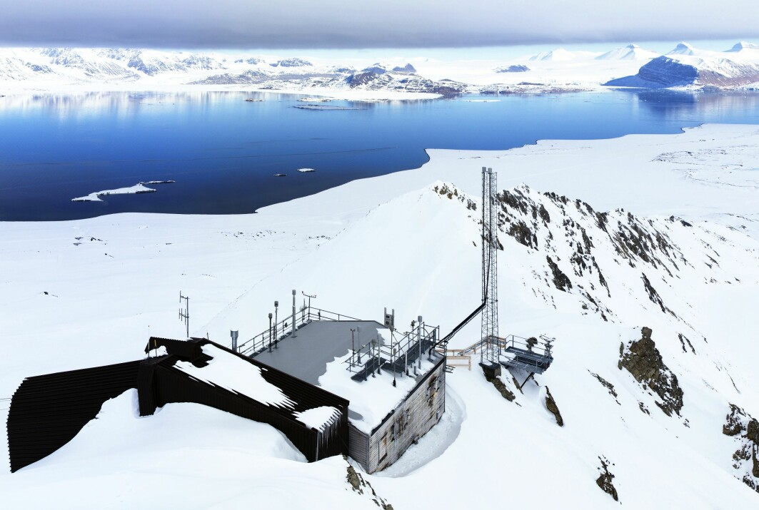 Record high levels of CO2 and methane were recorded in the atmosphere over Norway in 2019. Pictured here is the Zeppelin observatory in Spitsbergen, the largest of the islands in Svalbard.