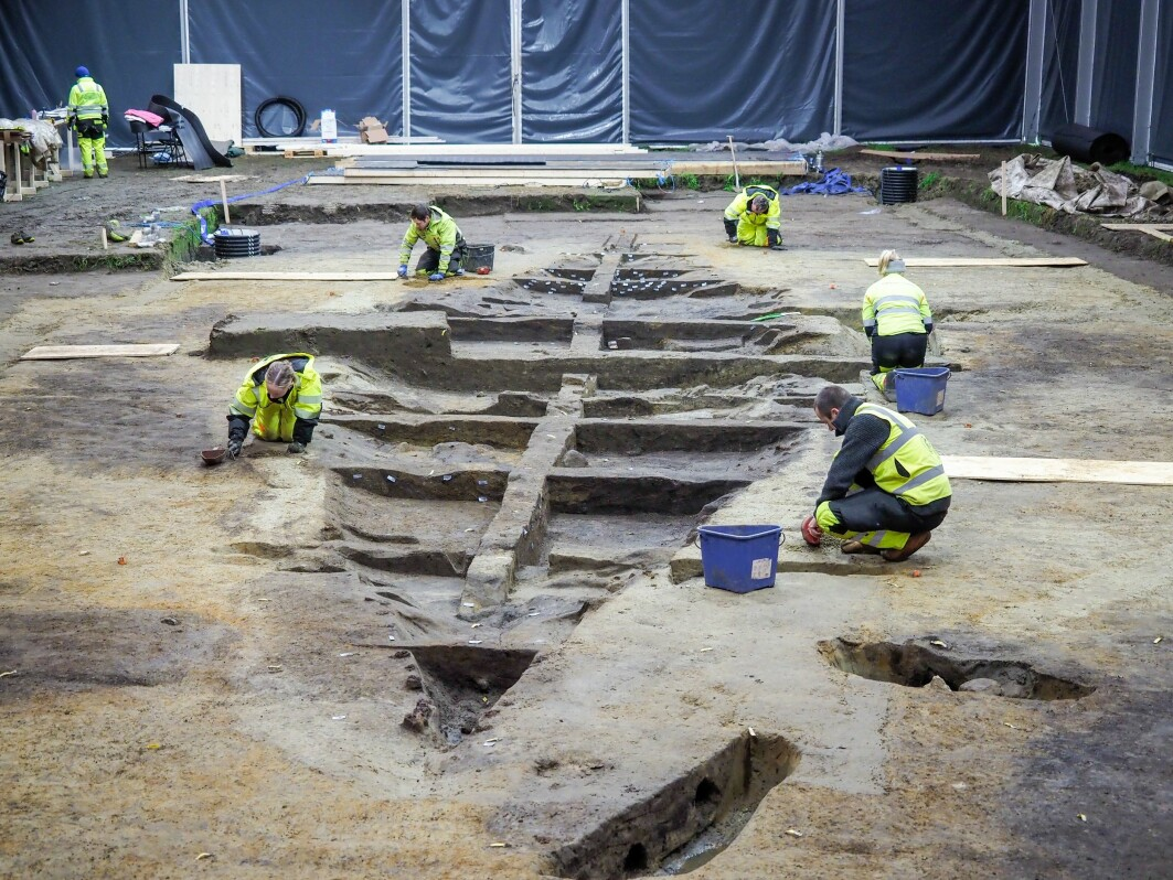This is what the excavation site looks like when completely uncovered.