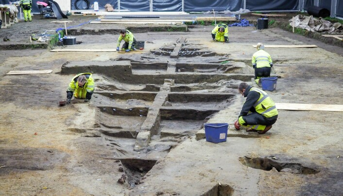 Layers of soil and turf tell the tale of a grand Viking ship burial