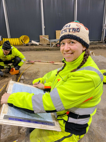 Camilla Cecilie Wenn is responsible for the excavation and all the documentation.