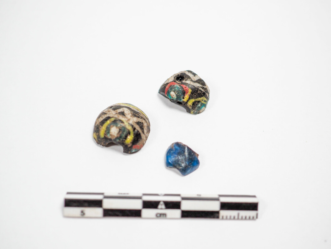 """""""These were found in the plough soil, and we can't determine that they were actually from the ship. But they certainly look very grand and are probably our most visually pleasing find"""", says Wenn."""