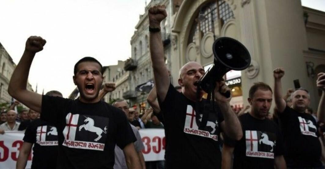 Georgian March rally in Tbilisi, Georgia, July 2017.