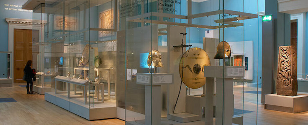 The treasures from Sutton Hoo are on display in the British Museum in London.