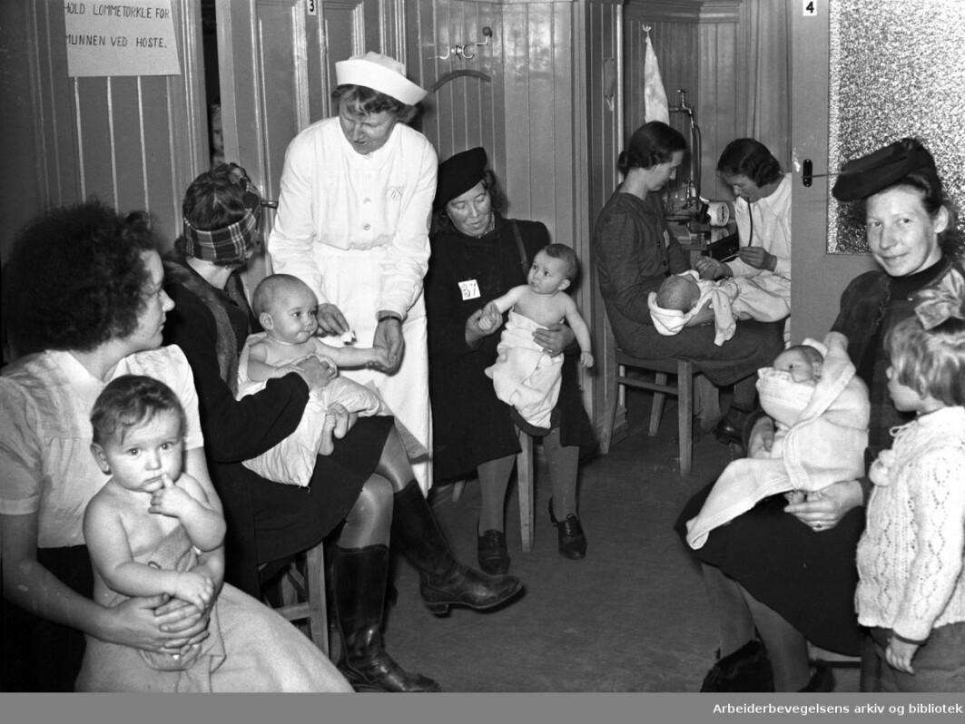 Sagene Health Care Centre in Oslo, November 1945.