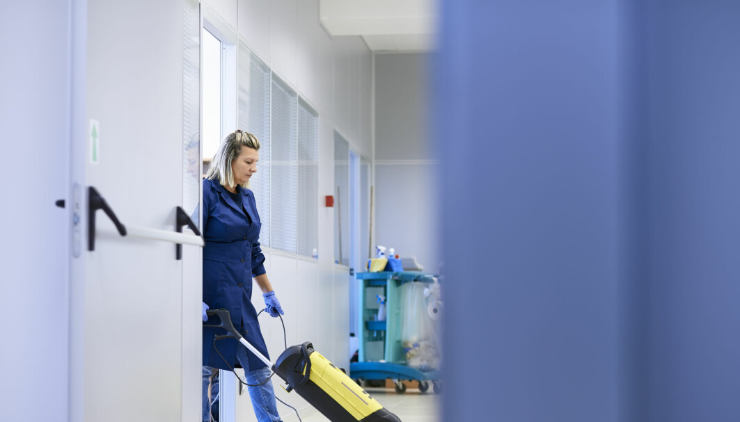 Many of the Polish migrant workers who come to Norway have PhD's and master's degrees, but end up working as cleaners or at construction sites.