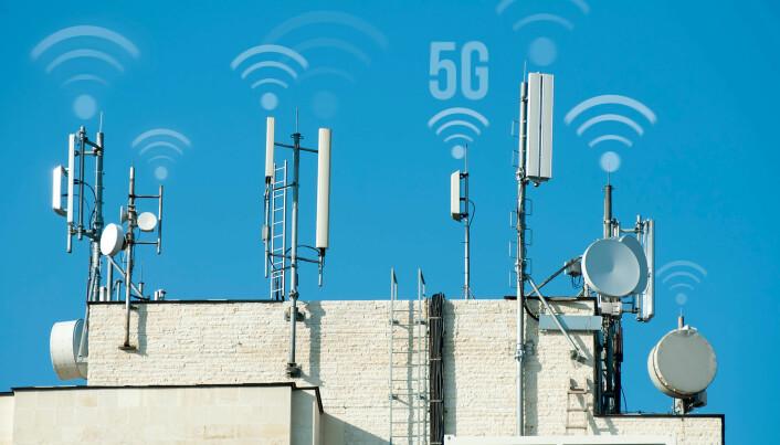 5G antennas on rooftops.