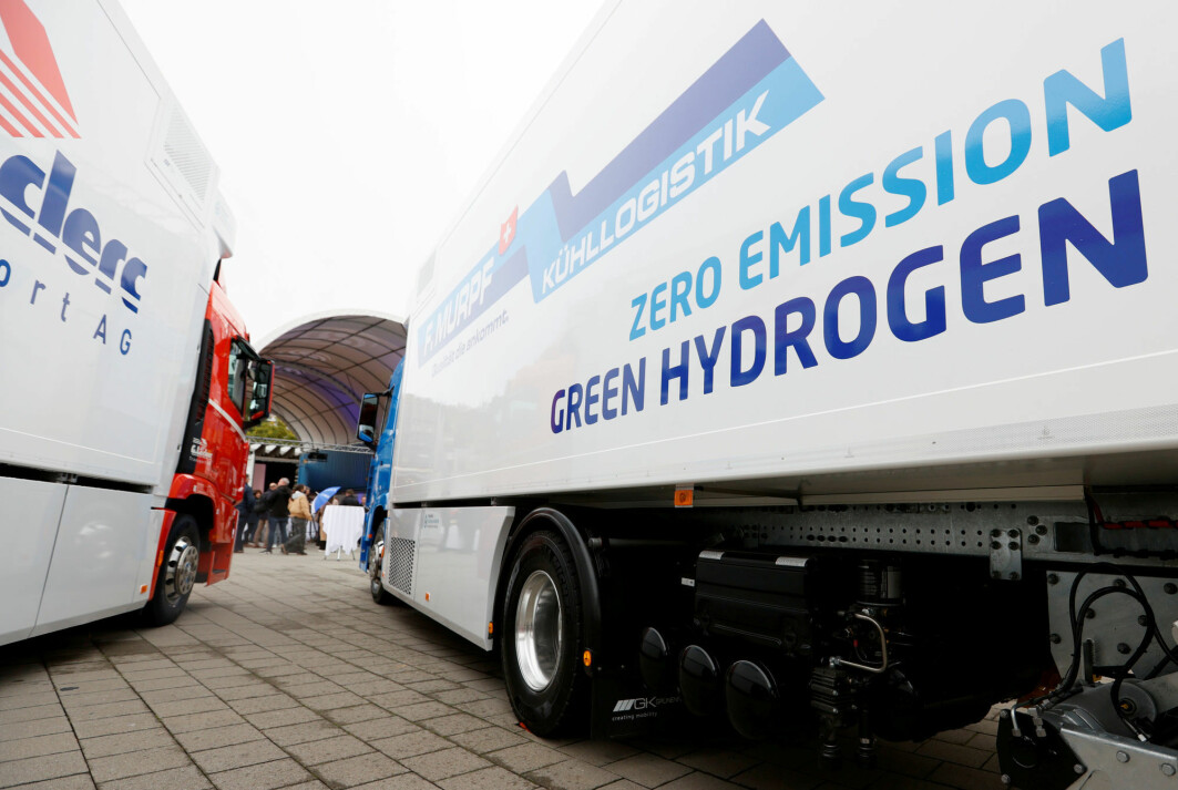 Hyundai's new hydrogen truck was unveiled in Switzerland in October 2020.