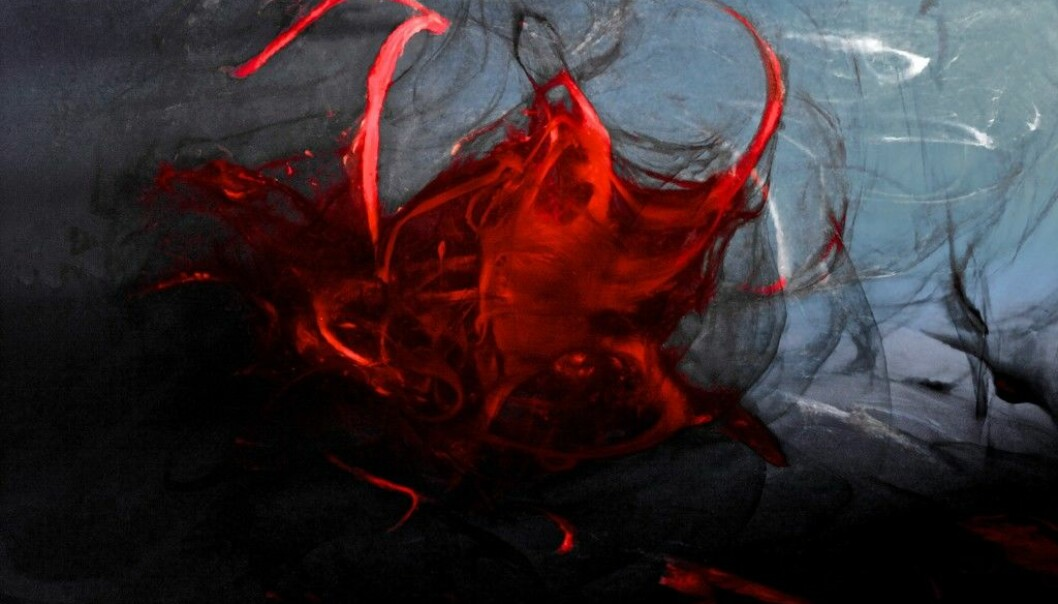 Artists who elevate menstruation into the realm of art, have faced many challenges. Pictured: Menstrual blood, artwork title