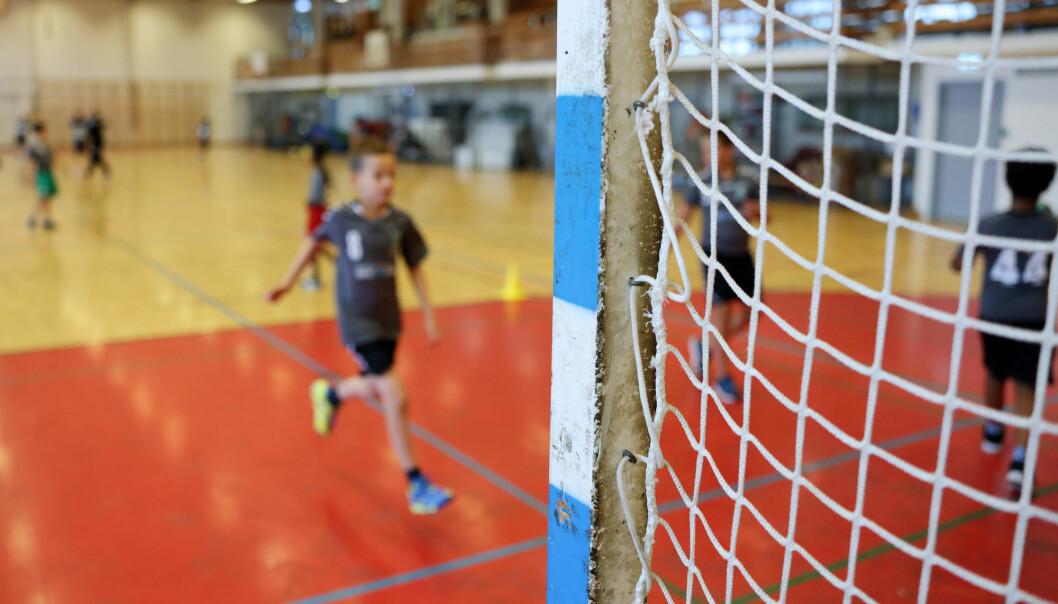 Oslo 20200915. Barn trener håndball i Linderudhallen. Foto: Ørn E. Borgen / NTB NB! MODELLKLARERT