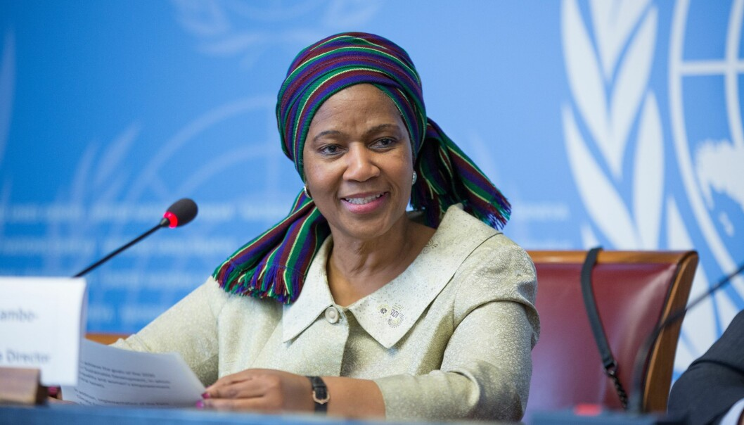 In year 2000, the UN Security Council passed a resolution about women, peace and security. This is a photo of Phumzile Mlambo-Ngcuka, who is the leader of the UN's women's organisation UN Women.