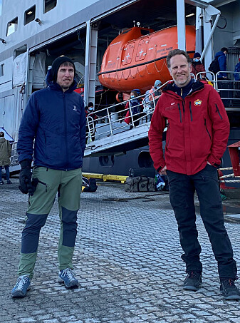 Expedition leaders Martin Ludvigsen (NTNU) and Philipp Assmy (NPI), alongside 34 other researchers, are ready for the Barents Sea.