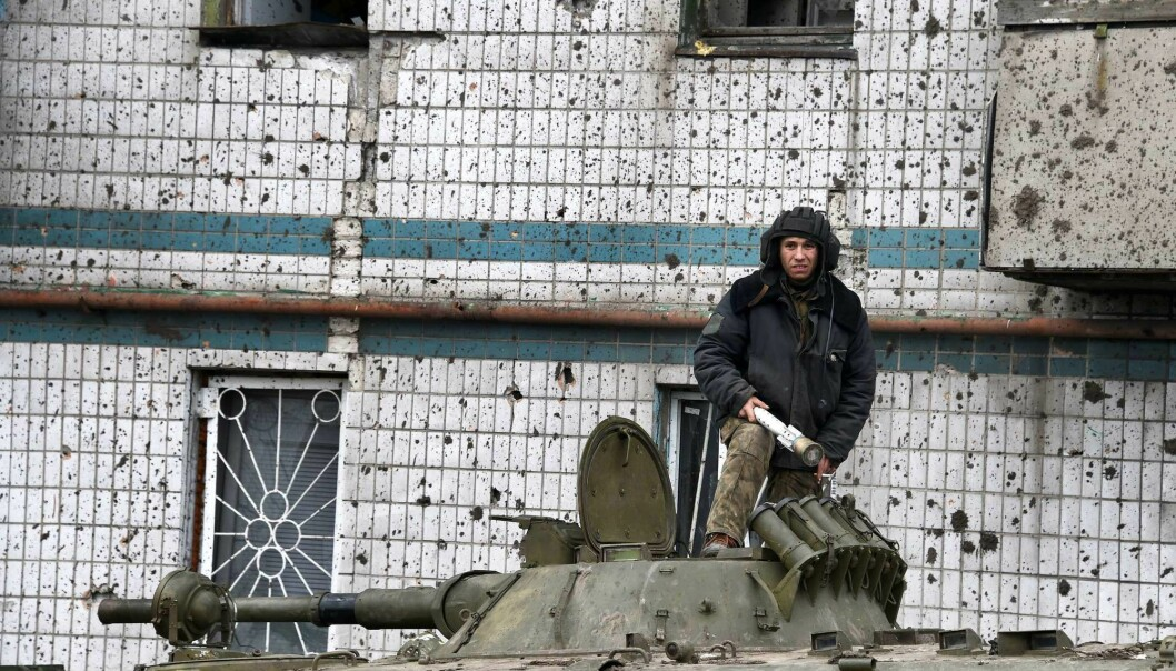 A pro-Russian separatist reloads on his tank in Donetsk, Ukraine. As many as 15,000 Russians went to Ukraine to fight in this conflict. Roughly 1,000 foreign fighters also came from the West to fight in Ukraine.