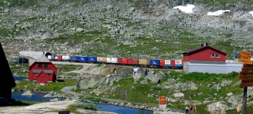 Is train transport the most environmentally friendly way to move goods?