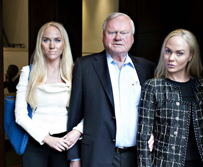Norway's richest man, shipping magnate John Fredriksen, has an estimated net worth of 12,4 billion US dollars, according to the Norwegian newspaper Kapital. Here he is pictured with his daughters Kathrine Astrup Fredriksen (left) and Cecilie Astrup Fredriksen.