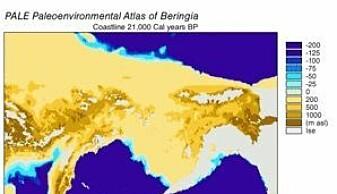 The Bering Land Bridge 21 000 years ago.