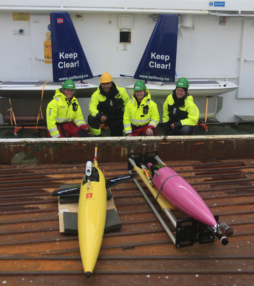 Seagliders and Sailbuoys ready to be deployed.
