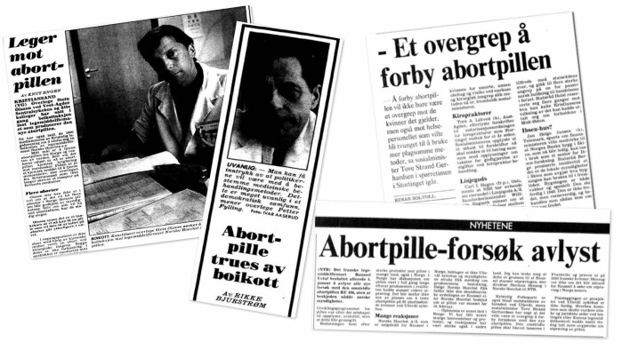 The French pharmaceutical company Roussel Uclaf wanted to test drugs to induce medical abortions on patients at Ullevål Hospital in Oslo as early as 1989. Political outcry and pressure made them withdraw their application.