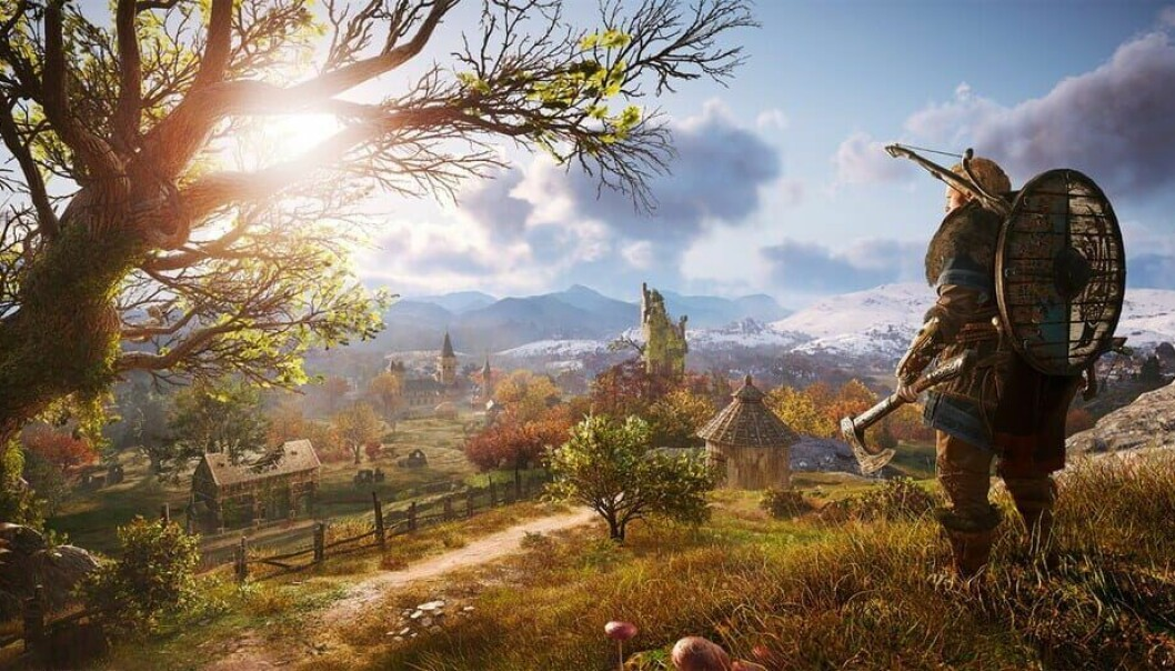 A Viking and some lovely nature. But did it really look like this? According to Skjoldli, the game mixes time periods and Norse mythology into complete fantasy, rather than attempt to create a historically accurate backdrop as has been usual in the other games in the Assassin's Creed series.