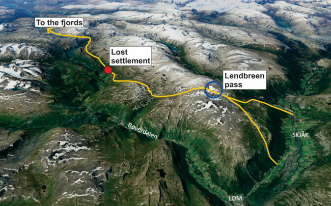 The route through the Lendbreen pass leads to the lost Viking settlement. Where will the route takes us next?