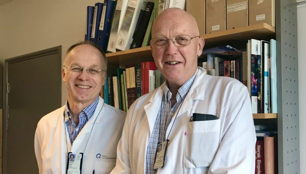 """Ludvig M. Sollid and Knut E. A. Lundin have studied celiac disease since the 1980s. Lundin is involved in a recently published study on a """"celiac disease pill"""" which shows very promising results."""