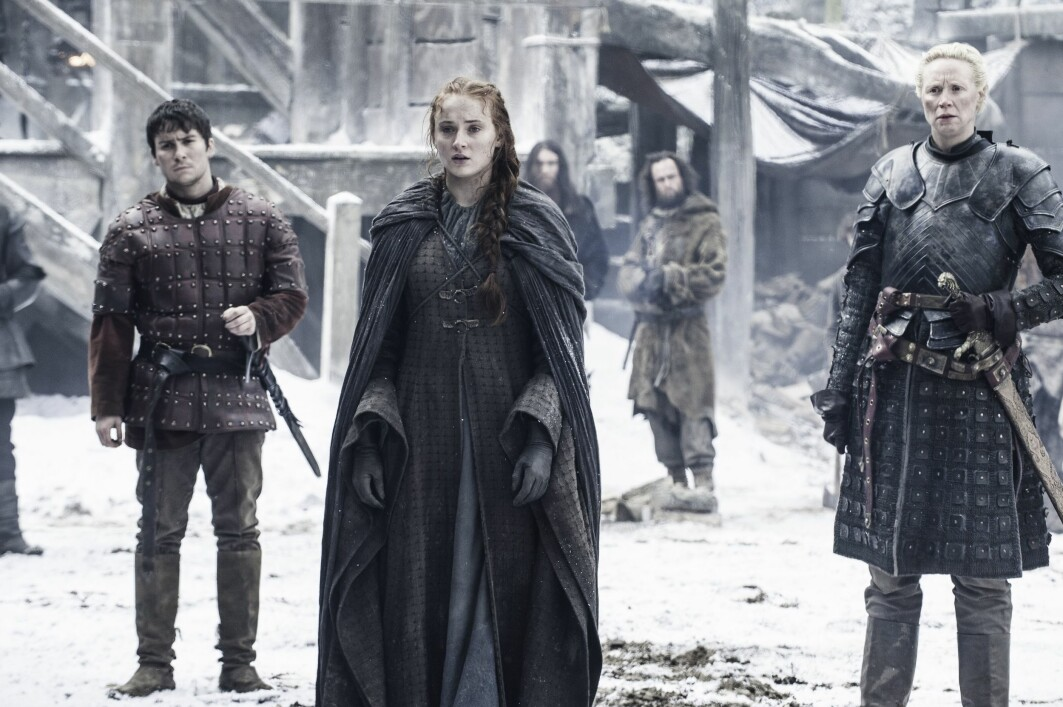 Both Sansa Stark (middle) and Brienne of Tarth (right) are female characters in Game of Thrones that challenge the female ideal of the fantasy universe in various ways.