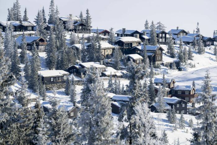 The Norwegian average cabin was 96 m2 in 2018. The picture shows a cabin development on the east side of Kvitfjell.