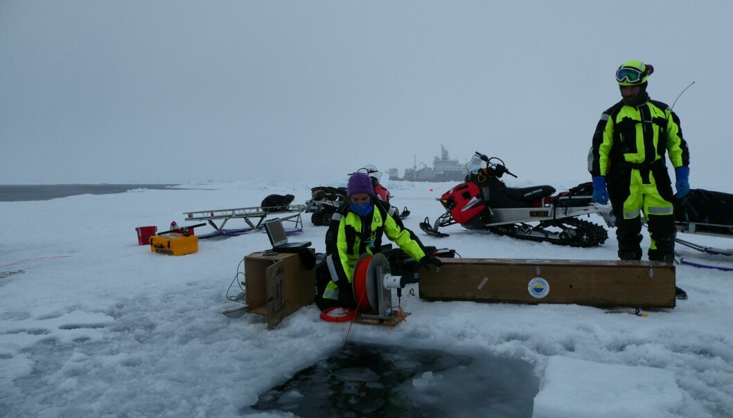 MSS profiling during one of the ice station