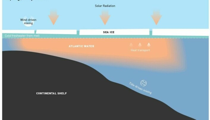 Simplified schematic of the mixing in the Arctic Ocean.