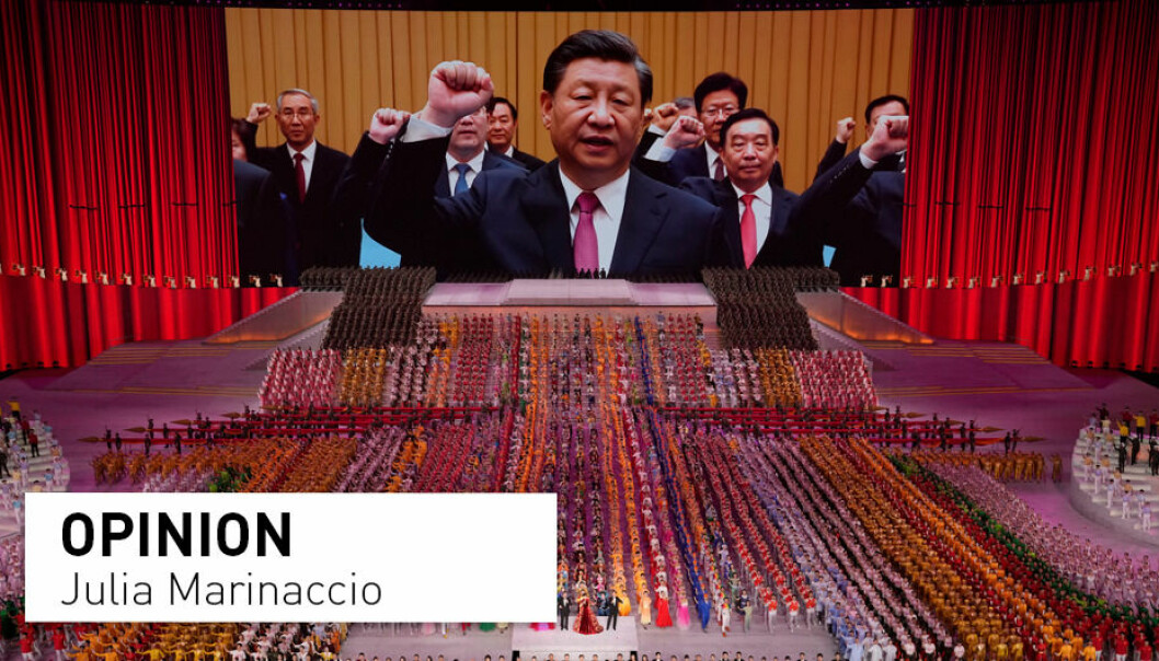 Throughout history, central decision-makers in China have had only limited knowledge about what local policy-implementers were really doing, writes Julia Marinaccio. Pictured: President Xi Jinping is seen leading other top officials pledging their vows to the party on screen during a gala show ahead of the 100th anniversary of the founding of the Chinese Communist Party in Beijing.