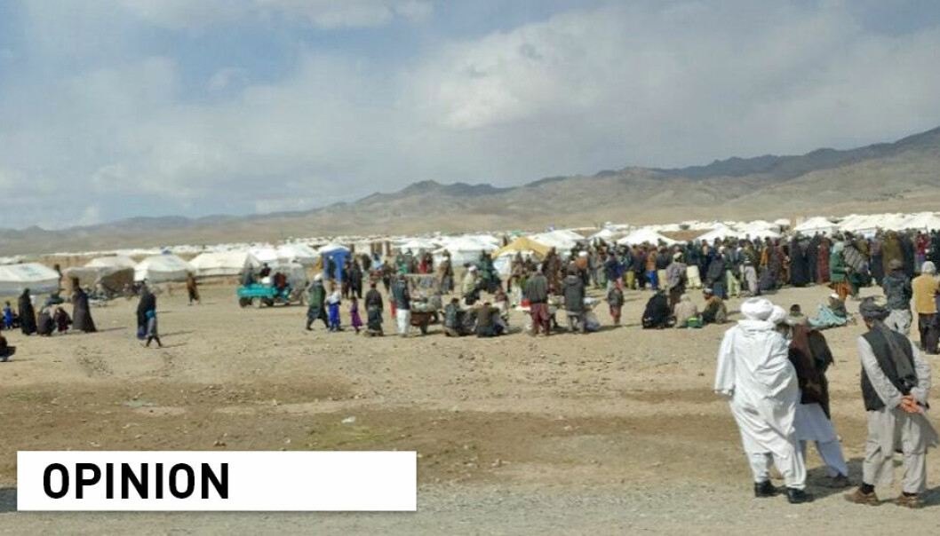 Human rights and freedom from abuse do not have to be compromised in order to provide humanitarian support in Afghanistan, claims Karim Merchant and Ingrid Nyborg. Pictured: Coordination meeting for a camp for internally displaced people, five miles east of Herat City, Afghanistan.
