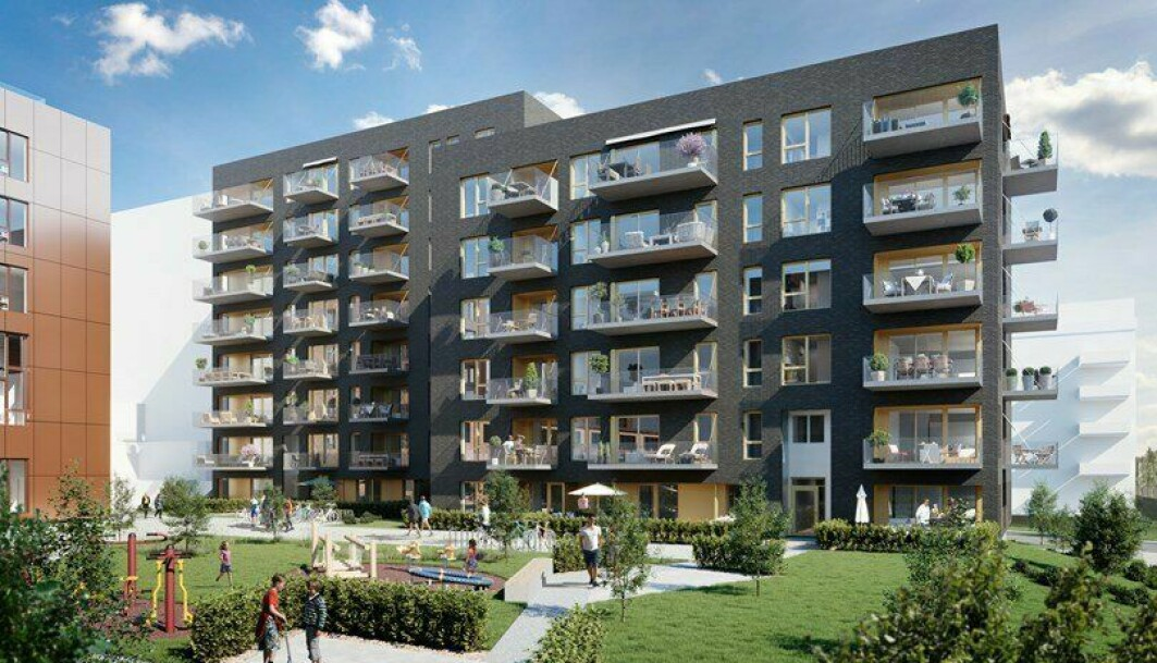 A lot of people dream of having their own home. This picture is of the Ensjø Torg project in Oslo.